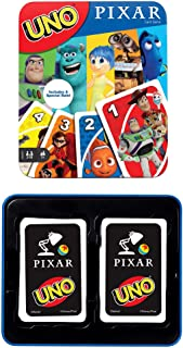 UNO Disney Pixar Card Game with 112 Cards & Instructions in Storage Tin for Players 7 Years & Older, Gift for Kid, Family ...