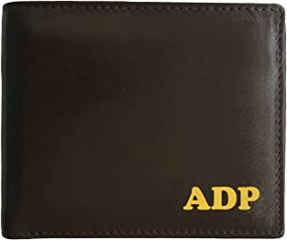 Personalized RFID Blocking Leather Bifold Men's Wallet With ID Window