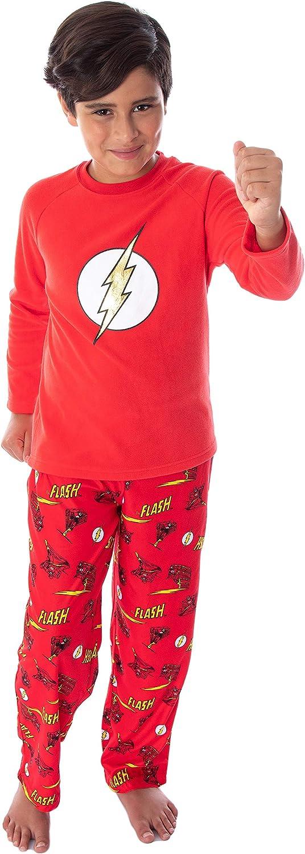 DC Comics Boys' The Flash Superhero Fleece Sh Sale special price Sleeve Long Limited time cheap sale Raglan