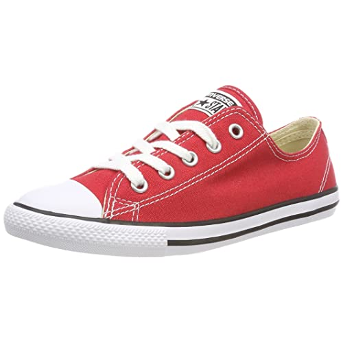 e93a55edfb8 Converse Women s All Star Dainty Ox Trainers Red White