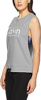 Calvin Klein Women's Logo Terry Pullover with Hem Tie
