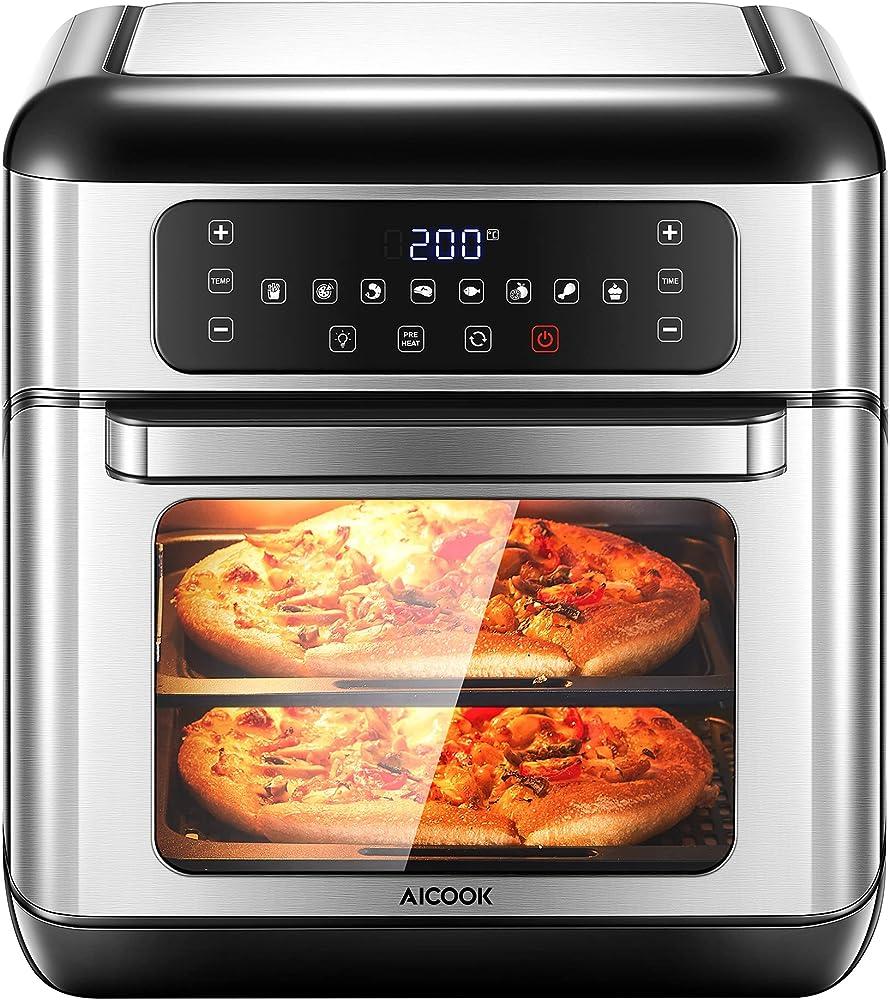 Aicook 10l, friggitrice ad aria calda, multifunzionale con 8 programmi preimpostati,