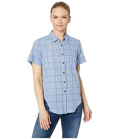 Toad&Co Indigo-for-It Short Sleeve Shirt (Light Indigo Plaid) Women