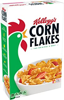 Kellogg's Corn Flakes Breakfast Cereal, Original, 18 Ounce Box (Pack of 3)