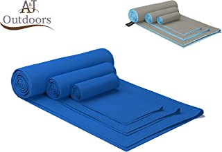 ANJ Outdoors The Most Absorbent and Fast Drying Premium Microfiber Towel for Travel and Sports  XL 60x30, Med. 30x15, Small 15x15 Ultra Compact Micro Fiber Workout Towel and Gym Towel