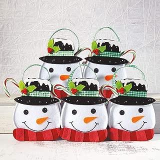 Top Hat Snowman Christmas Felt Treat Bags - Set of 5 (1 design)