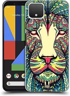 Head Case Designs Lion Aztec Animal Faces Hard Back Case Compatible for Google Pixel 4