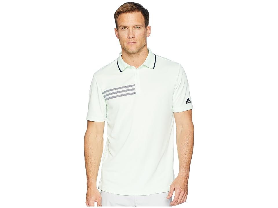 adidas Golf 3-Stripes Pique Polo (Aero Green) Men