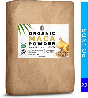 Earth Circle Organics Bulk - Organic Maca Root Powder, Natural Superfood, Helps with Energy, Hormone, Weight and Women's Fertility - USDA & Vegan Certified (22 lbs)