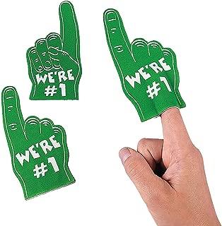 Green Mini We're Number One Foam Fingers (Set of 12)
