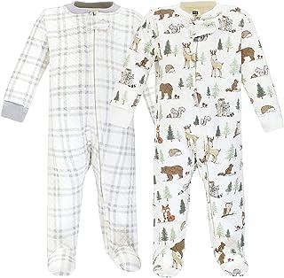 Hudson Baby Niemowlęta śpioszki dla dziewczynek, Zwierzęta leśne, 0-3 Miesiące