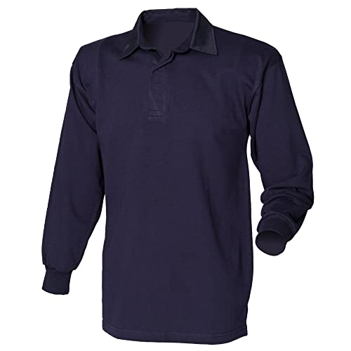 13480d10432 Front Row Long Sleeve Classic Rugby Polo Shirt