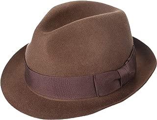 Janetshats Unisex Wool Trilby Felt Fedora Hats Short Brim Panama Jazz Bowler Hat