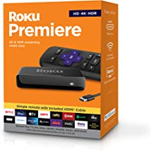 Roku Premiere | HD/4K/HDR Streaming Media Player, Simple Remote and Premium HDMI Cable