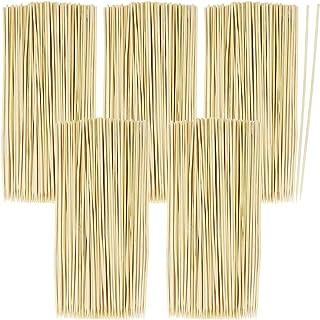 COM-FOUR® 500x Brochetas de madera de bambú - Brochas de 20 cm de largo - brochetas de verduras en un juego (0500 piezas)