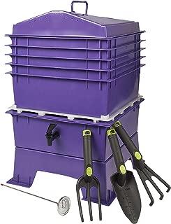 Homestead Essentials Worm Composting Bin (Deluxe Purple)