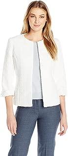 Kasper Women's Textured Novelty Flyaway Jacket