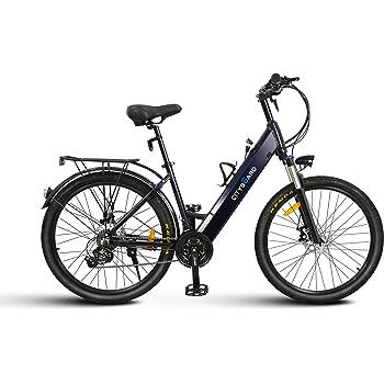 Cityboard E1 Bicicleta Eléctrica con batería integrada de 26