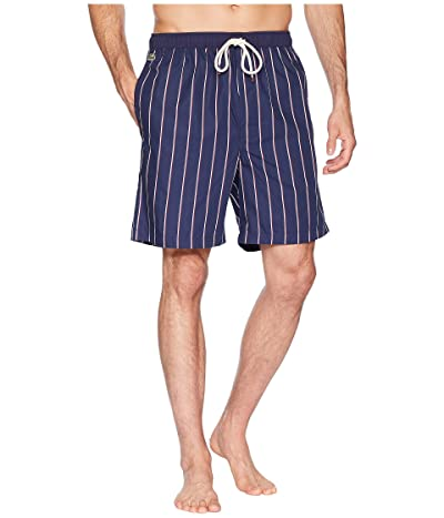 Lacoste Authentics Woven Sleep Shorts (Navy) Men