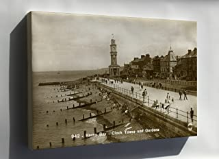 Canvas 24x36; View Of Clock Tower From Herne Bay Pier 1925