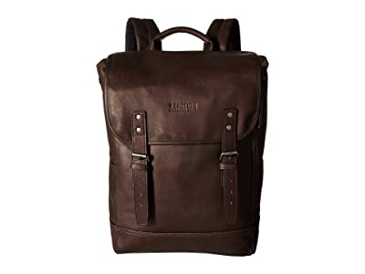 Kenneth Cole Reaction Colombian Leather Computer Backpack (Brown) Backpack Bags