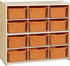 Contender Baltic 12 Cubby Storage Orange