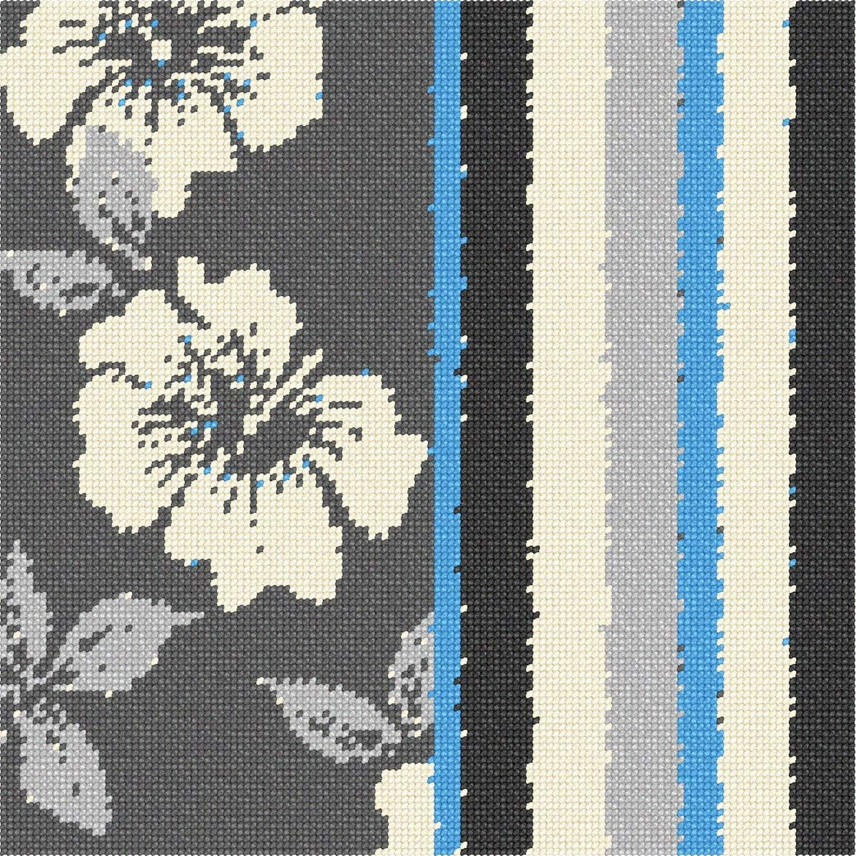 El Paso Mall pepita Grey Collection Floral 1 Needlepoint Kit Industry No.