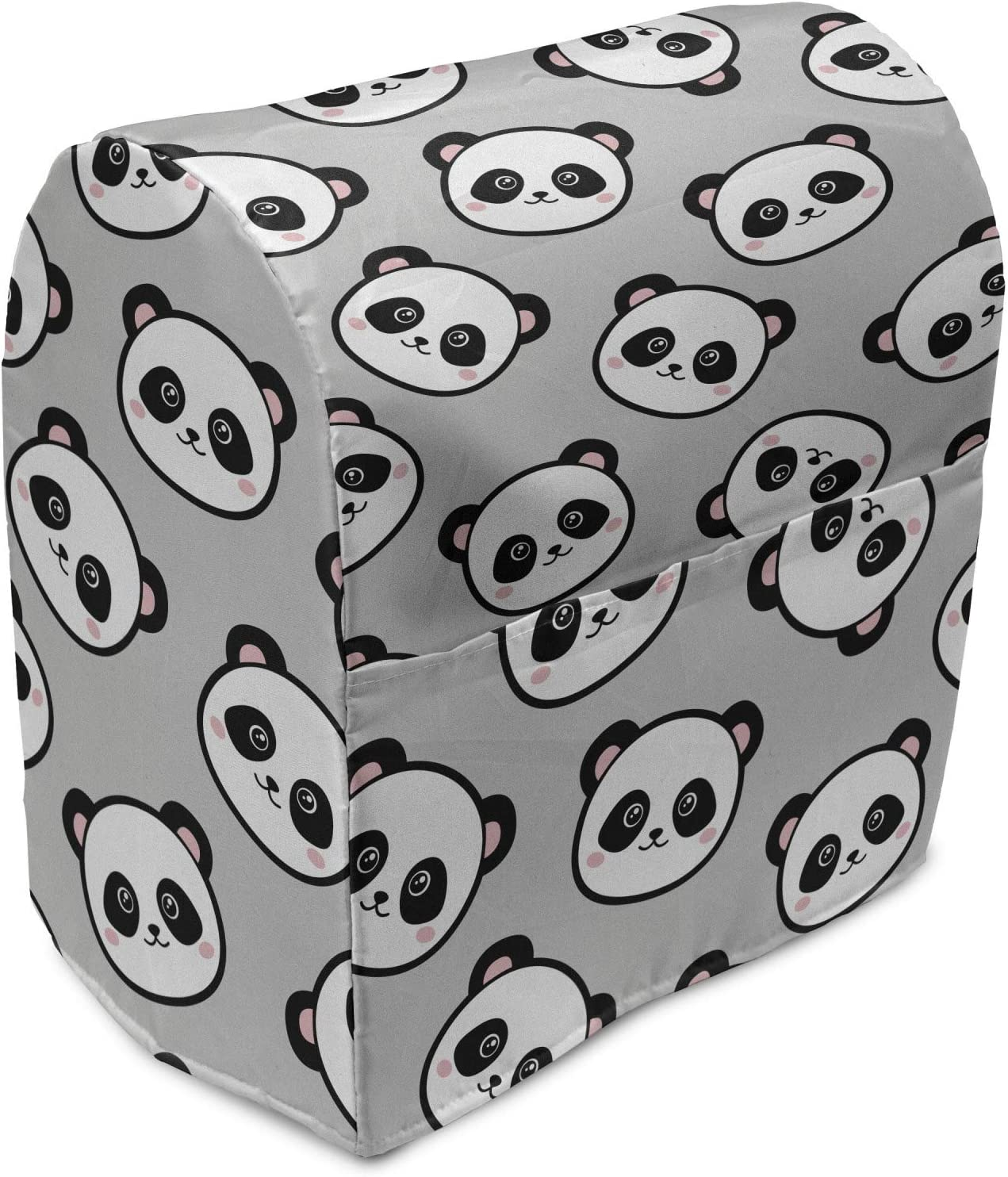 Lunarable Panda Stand Mixer Cover Heads Max 41% OFF Direct stock discount Bear Little Chinese Rep