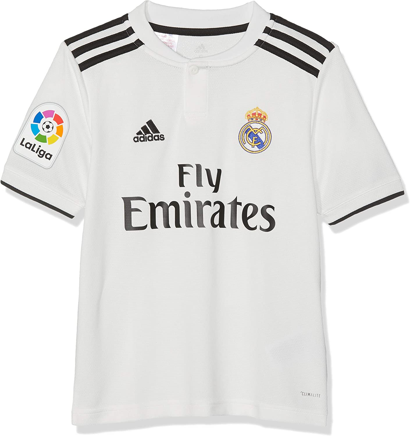 Buy adidas Real Madrid Home Kids Jersey with LFP Patch 2018-2019 ...