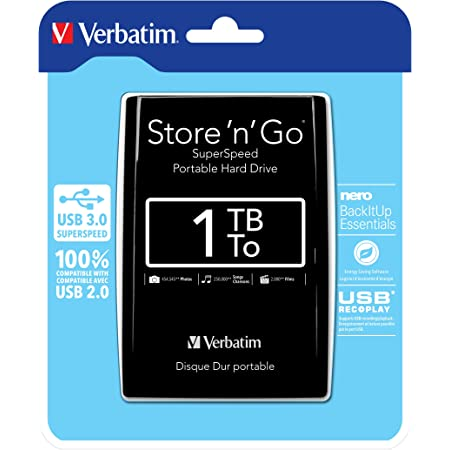 Verbatim 53023 1tb Store N Go Usb 3 0 2 5 Inch Computers Accessories