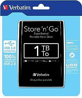 Verbatim Store 'N' Go - Hard Disk Esterno Portatile, USB 3.0, Nero, 1 TB