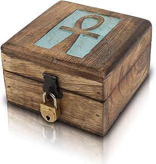 Great Birthday Gift Handmade Decorative Wooden Jewelry Box Jewelry Organizer Keepsake Box Treasure Chest Trinket Holder Wa...