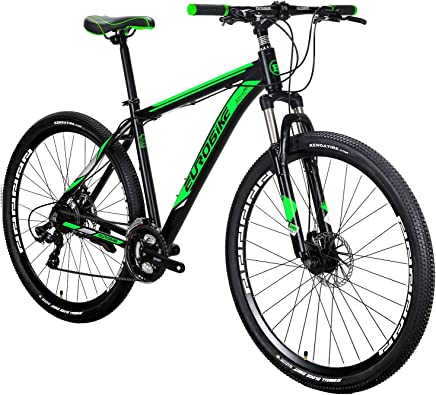EUROBIKE EURX9 Mountain Bike 21 Speed 29 Inches Wheels Dual Disc Brake Aluminum Frame MTB Bicycle