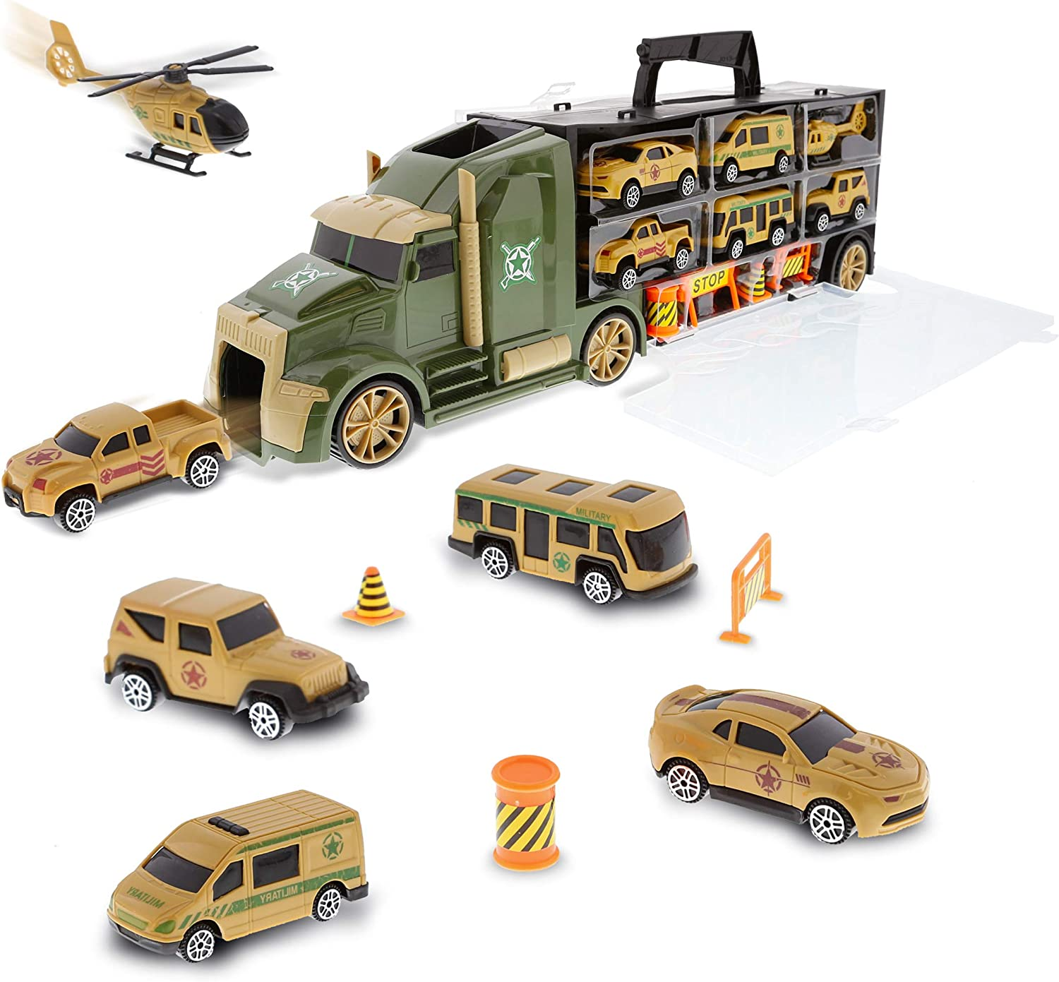 Mozlly Military Truck Transport Car Carrier Vehi We OFFer at cheap prices Play Set - cheap Army