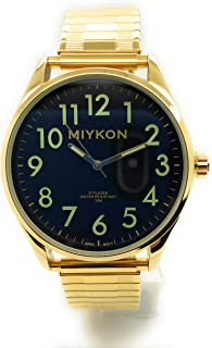 Mens Water Resistant Miykon Watch Oversize Easy Read Number Stretch Elastic Band Fashion Watch