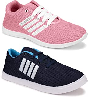 Shoefly Women's (9237-5054) Multicolor Casual Sports Running (Set of 2 Pair)