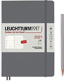 ロイヒトトゥルム 手帳 2021年 1月始まり A5 ウィークリー ソフト アンスラサイト 361943