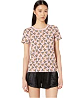 Moschino - Jersey Stretch T-Shirt w/ Teddy Bears All Over