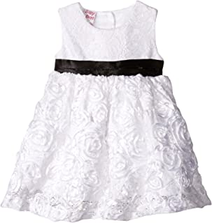 Baby Girls' SL Lace Overlay Embroidered Dress