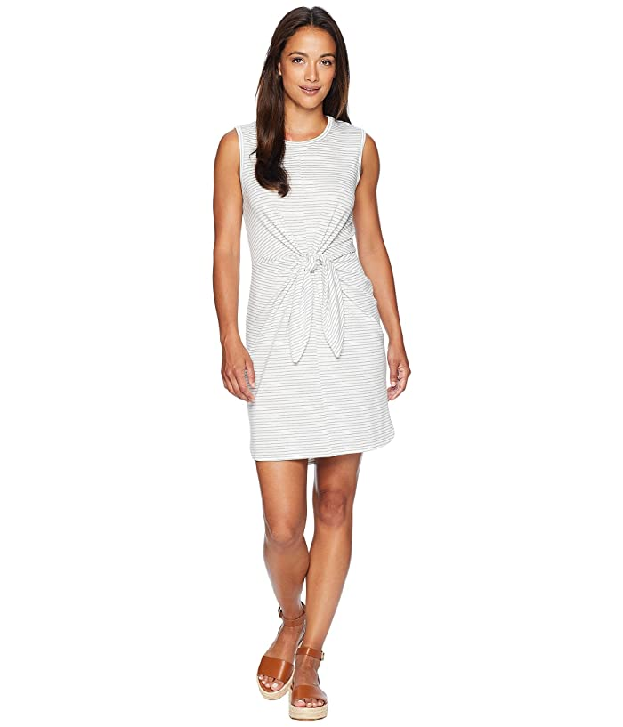American Rose Bella Front Knot Dress (Off-White/Heather Grey) Women