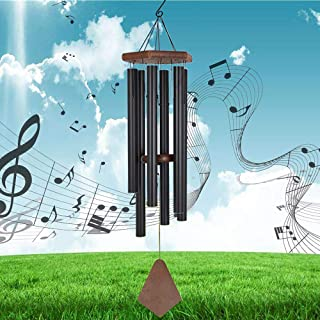 Reliancer Memorial Wind Chime Outdoor Large Deep Tone 31'' Amazing Grace Wind-Chime with 6 Aluminum Tubes Elegant Melodic ...
