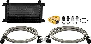 Mishimoto MMOC-ULTBK Universal Thermostatic 19 Row Oil Cooler Kit, Black