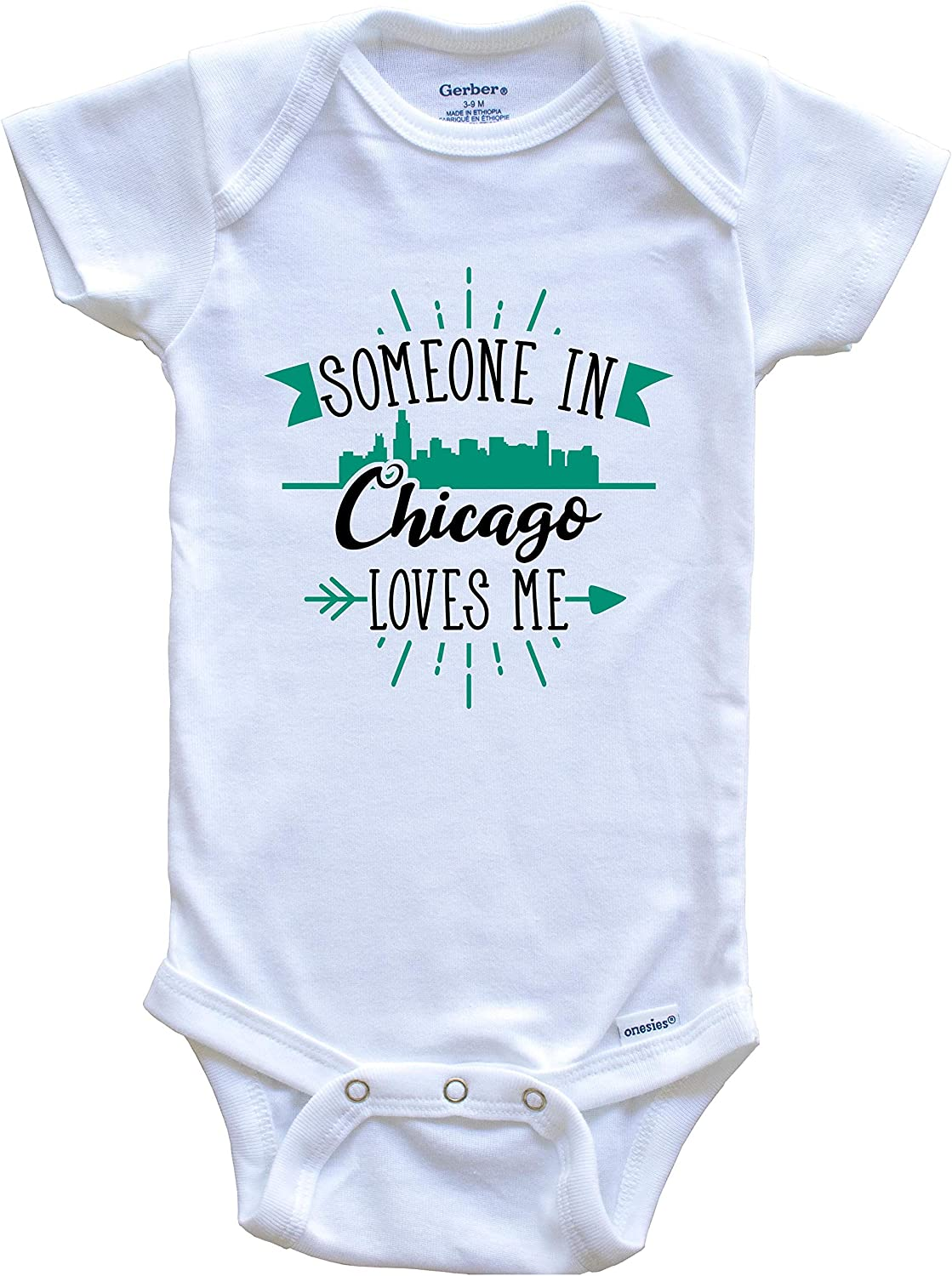 Color Gift Skyline Illinois City One Piece Jump Suit Pick Size NB-18M /'Til My Chicago Comes Out Baby Chicago Bodysuit CUTE NOW...