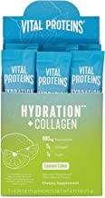 Vital Proteins Hydration Electrolyte Powder with Collagen - 1g Functional Sugar - 880mg Electrolytes - 100% DV Vitamin C (Lemon Lime, 7 Count)