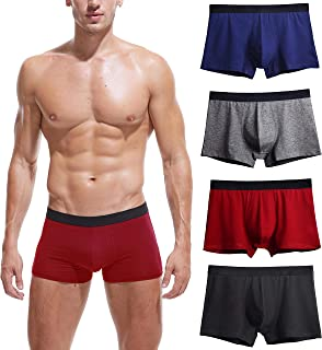 Mens Boxer Briefs 4-5 Pack Stretch Comfortable Breathable No Ride up Cotton Underwear