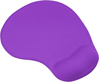 TRIXES Purple Mouse Mat Pad with Comfort Gel Wrist Rest Support for PC and Laptop