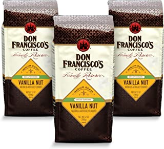 Don Francisco`s Decaf Vanilla Nut —Flavored Ground Coffee —3 bags (12 oz. each)