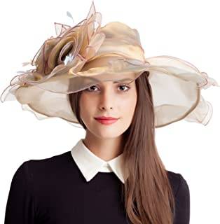 95875d70b99 Seven Flowers Kentucky Derby Hat Women Church Wedding Party Hats Black