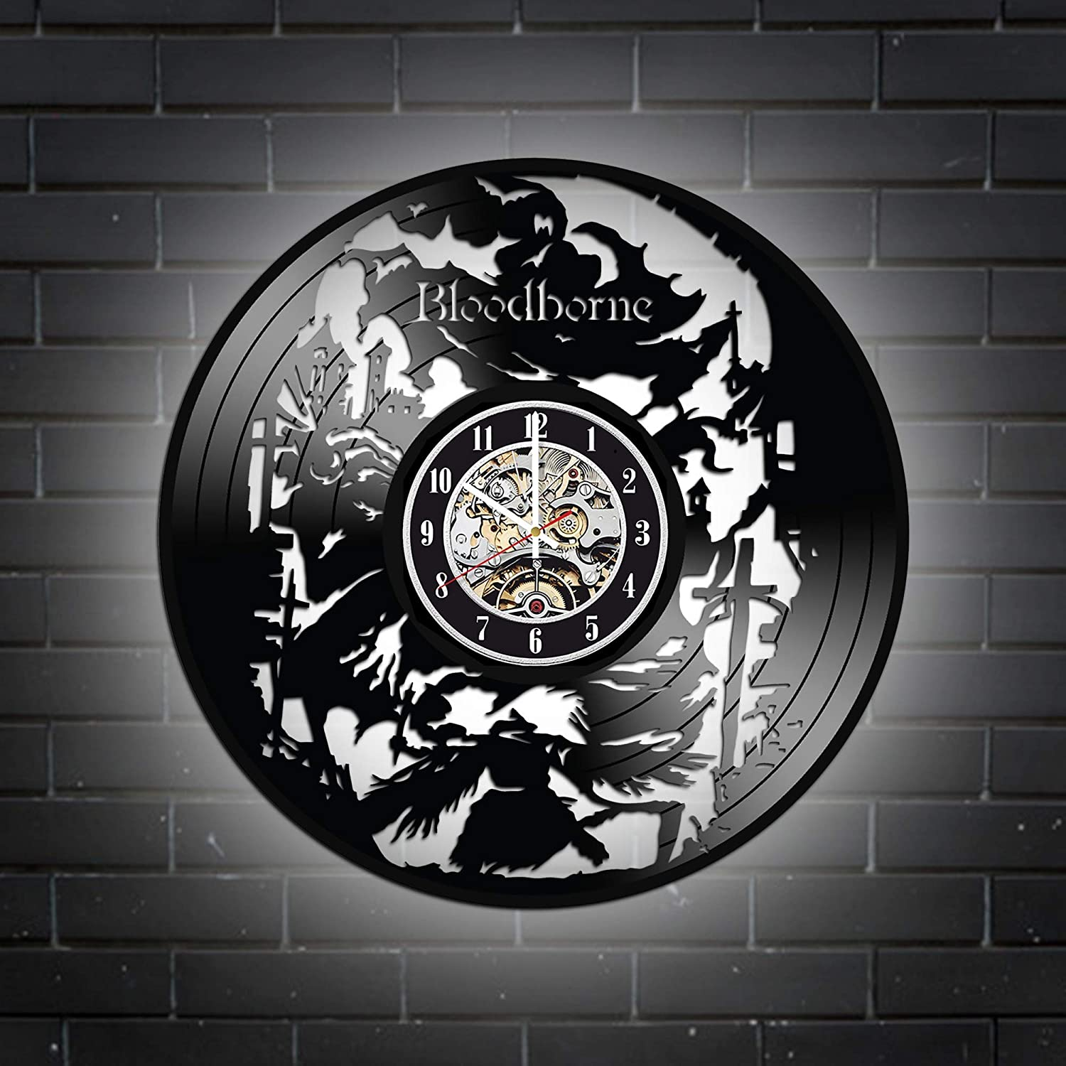 Levescale Bloodborne 優先配送 Lighted Vinyl Wall 通常便なら送料無料 - for Design Clock Slick