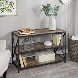 Best rustic wood media console Reviews